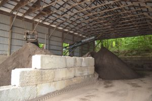 Soil is sorted in-house at Mulder's Landscape Supplies