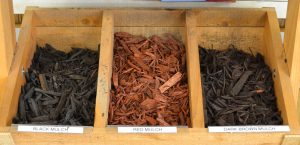 Dyed Mulch Samples from mulder's Landscape Supplies