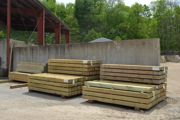 Timbers from Mulder's Landscape Supplies